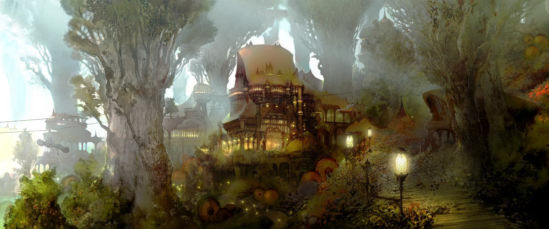 森の都「グリダニア」のイメージイラスト
