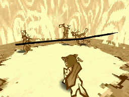 すべての物を切り裂く筆しらべ。対象を斬るように筆を動かすことで発動し、大木や巨岩を一刀両断のもとに切り裂く威力を持つ。戦闘時に使用することで、妖怪にダメージを与えることもできる
