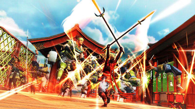 炎を宿した2本の槍による乱舞攻撃。攻撃範囲内に存在するすべての敵を焼き尽くす