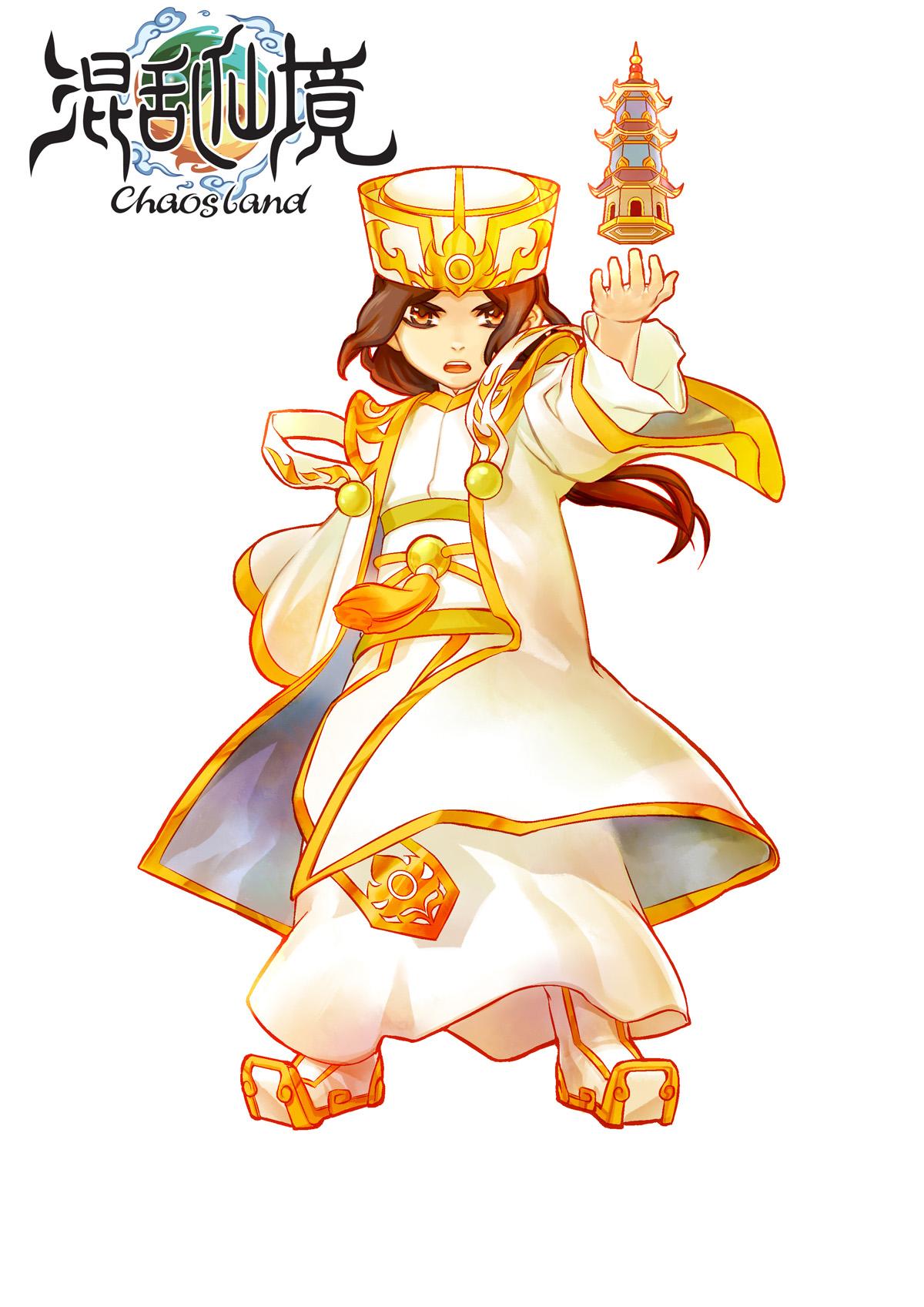 キャラクターイラスト。「かわいらしいデザイン」とひとくくりにされがちだが、「カナン」や下の「三国封神」ともタッチが異なる