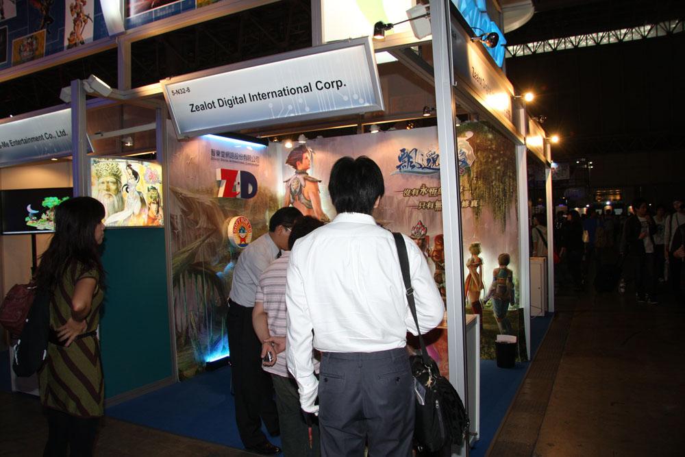 台湾コーナーは「童話王国」を開発したLager Network Technologiesや「アンリミテッドハーツ」の開発元Winking Entertainment、「グランドファンタジア」のEASYFUN Entertainment といった日本でサービスされているタイトルを開発したメーカーの出展が多かった