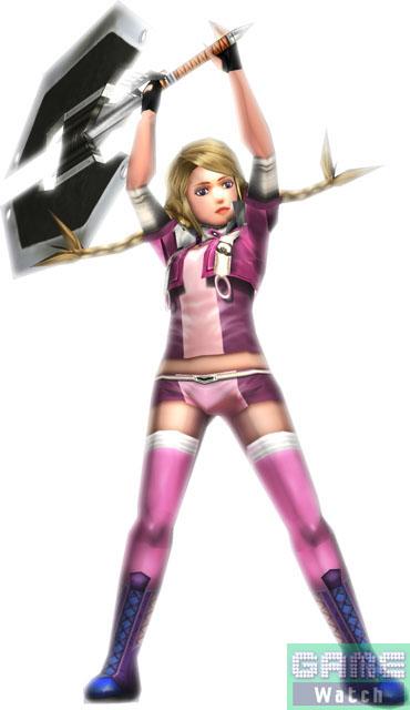 4人のプレーヤーキャラクター。左から「アンジェラ・セロン」、「ミナ・ベリー」、「グロリア・リチ」、「シルヴァ」で、メインウェポンは「闘剣」、「戦斧」、「バーストランス」、「機銃」。どのキャラクターを使うかは、武器で選ぶもキャラで選ぶもプレーヤー次第