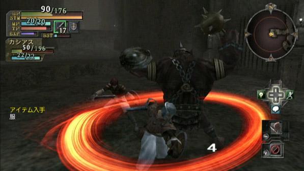 攻撃のモーションひとつひとつが長めで、それでいて敵が動き回るため、ロックオンしないと攻撃を当てづらい。ロックオンすると移動がかなり遅くなるため、その場で立ちつくして攻撃しあうという遊び方になりがちだった