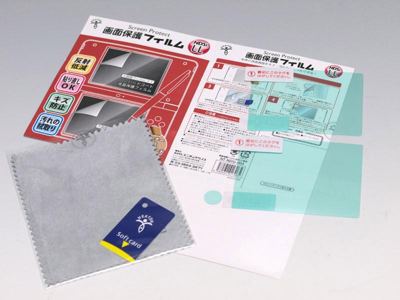 パッケージ内容は、液晶保護フィルターの上下が1枚ずつ、外側カメラ用のフィルターが1枚、クリーニングクロスにスクイーズカードと、同梱物が多い