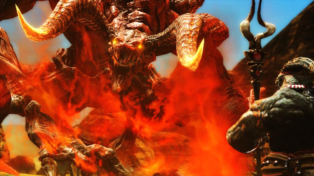 火の玉から出て来た異形の生物。これが「蛮神」だろうか?