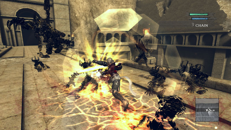 魔法の盾を出現させ、マモノの攻撃を防ぐ(一部防ぐことのできない攻撃もある)。魔力を最大まで溜めて発動すると、360度全方向からの攻撃を防ぐ盾が出現する