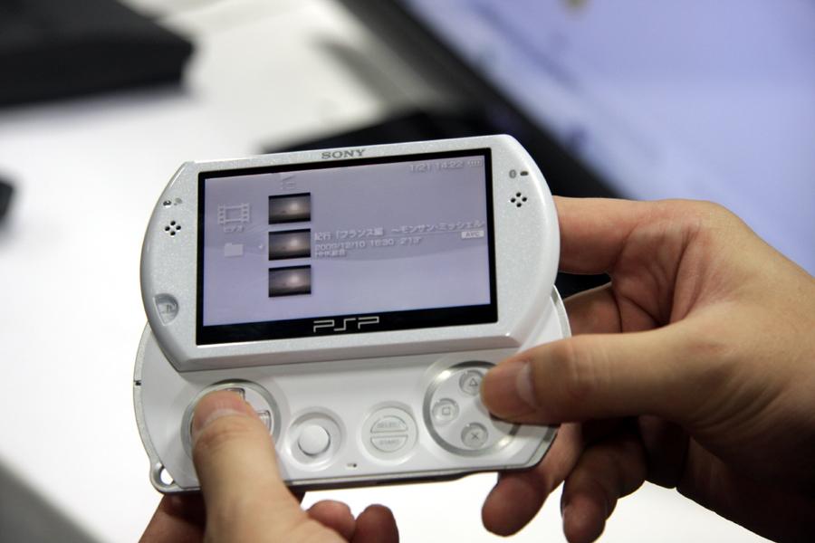 PSPに映像をコピーして楽しめる。PSP goの場合、本体メモリかメモリースティックマイクロか選択することができる