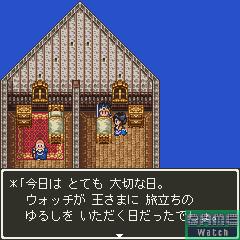 スタート地点であるアリアハンのお城にいる王様の話を聞いたら、おなじみの「ルイーダの酒場」で仲間を呼び出して4人パーティーを編成する。デフォルトで登録されているキャラクターをそのまま使っても、登録所で自分の好きな名前および職業のキャラクターを作っても構わない