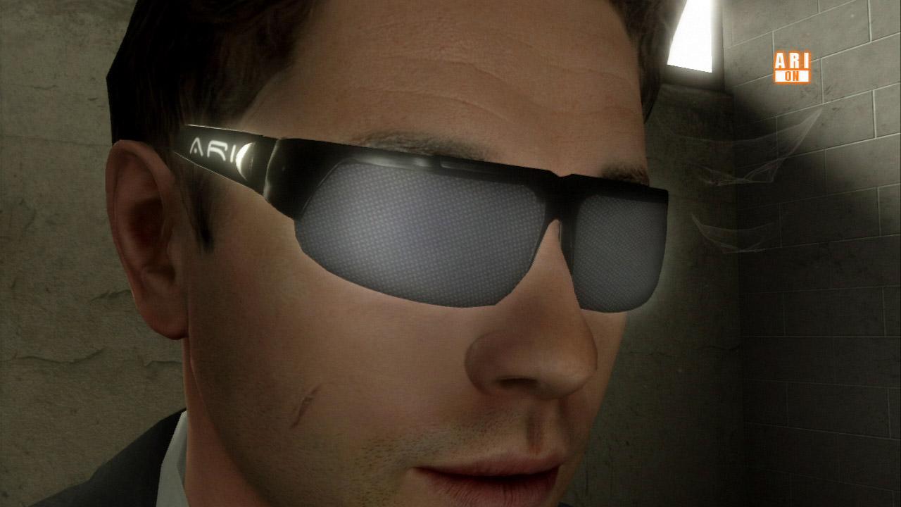 4人の中でも特殊な要素を持っているのがFBI捜査官のジェイデンだ。彼はARIというサングラスタイプの近未来的な捜査ツールを駆使する。ARIは視界にデータを投影したり周囲をスキャンできる装置で、みすぼらしいオフィスもARIによって一瞬で別世界になる