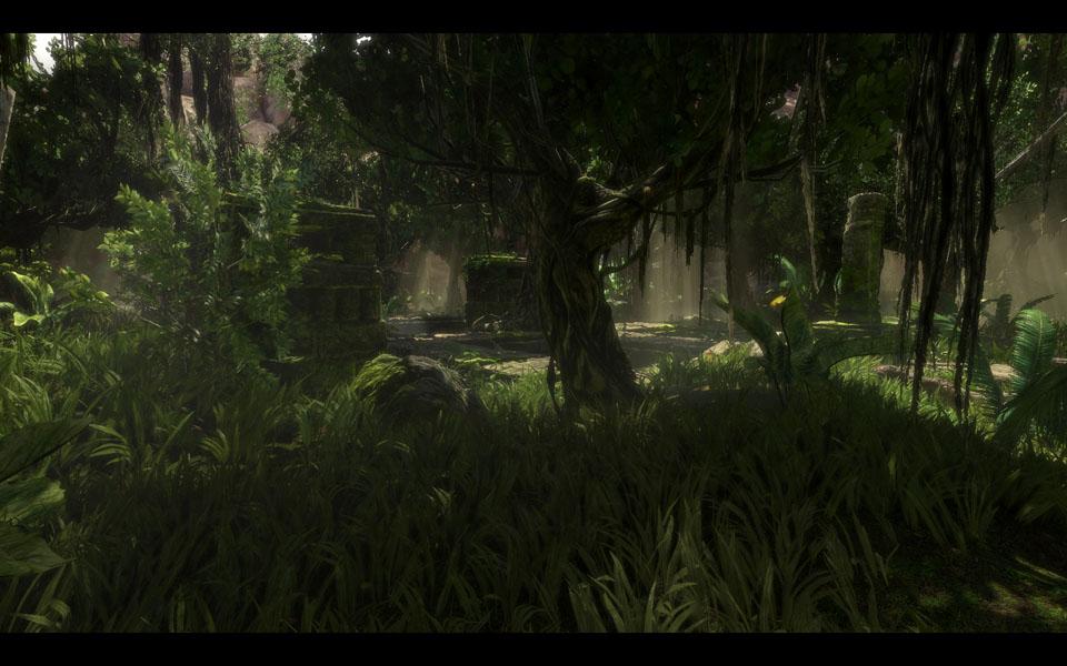 「UE3-2010」のデモとして製作されたジャングルシーン。ジャングルはCRYTEKが好んで用いてきたモチーフだが、今回あえてぶつけてきたのはライバル意識から?