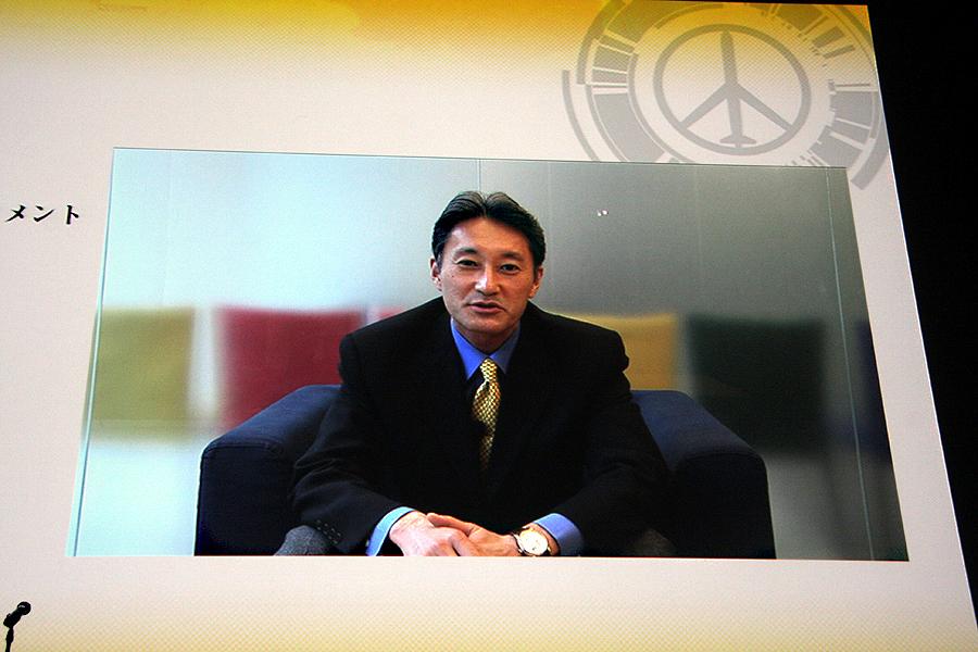 米国出張中のSCEの平井一夫氏は今回出席ならず。「約1年10カ月で早くも新しい作品を完成させていただき嬉しく思います」とビデオレターで挨拶