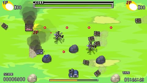 4月22日リリース。「防衛」、「迎撃」、「破壊」と、目的の異なるミッションを、ステータスの違う戦車を使い分けてクリアする。敵が落とすアイテムを拾えば弾種も変化。発射の反動で後退する戦車の姿は見もの