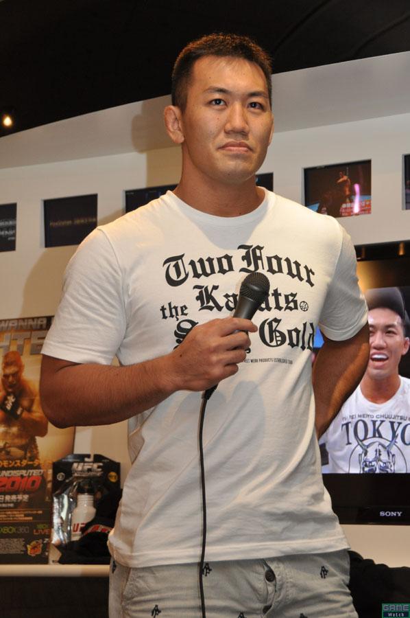 同社イベントではおなじみとなった感もある、日本人UFCファイターの岡見勇信選手