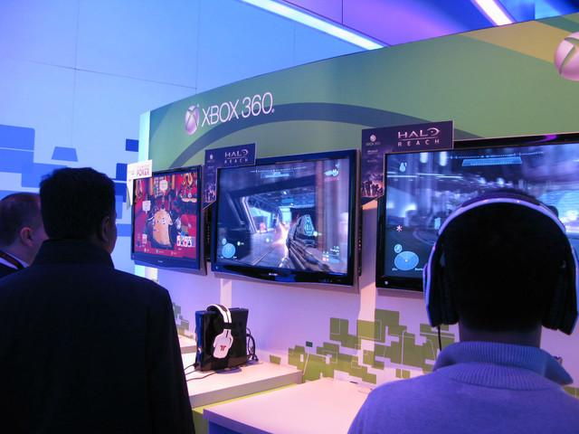 出展されていたのは「Halo: Reach」とXbox LIVEアーケードの「FULLHOUSE POKER」の2つ