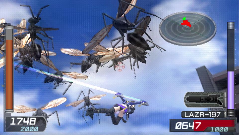 「地球防衛軍3」には登場しなかった空を飛ぶ女性隊員ペイルウィングが登場する
