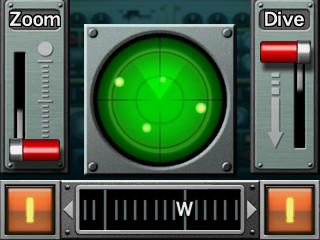 海中では下画面のソナーをうまく活用して敵の位置を探る