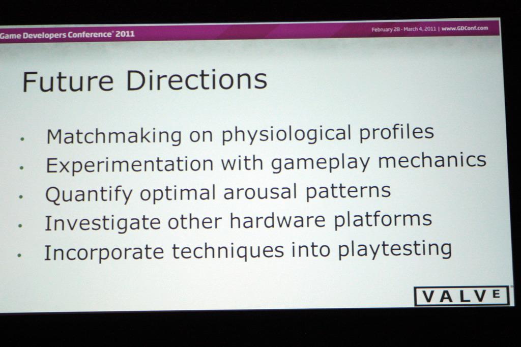 まとめと将来の展望について。消費者向けのバイオフィードバック装置が登場すれば、ゲームの面白さを刺激するすばらしい機械になるかもしれない