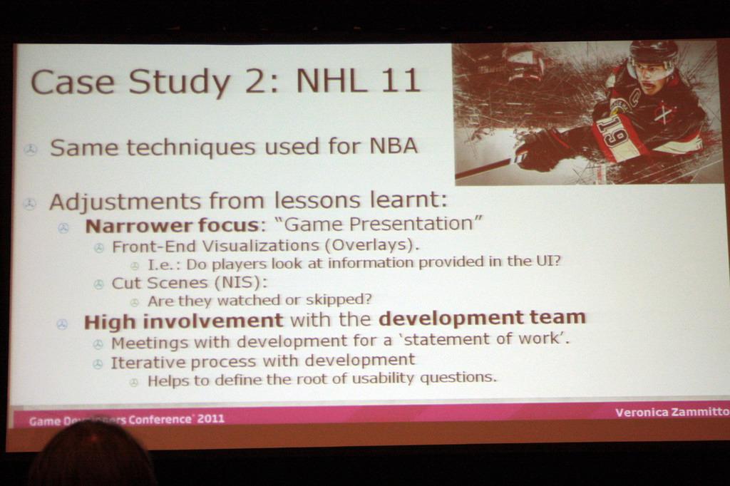 「NHL 11」での取り組み