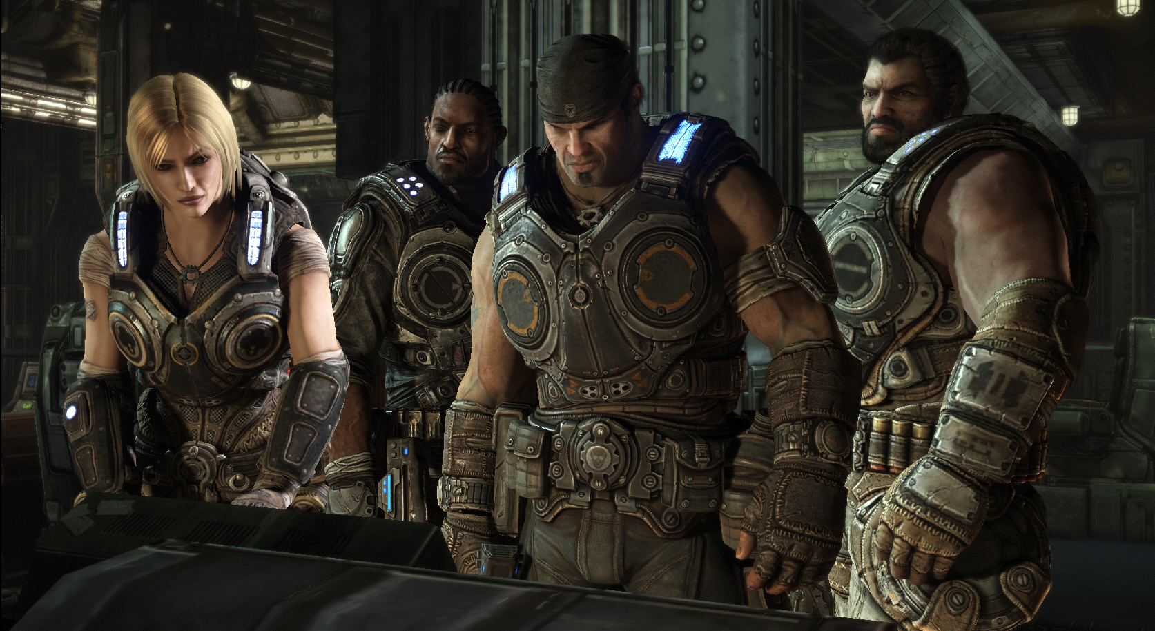 「Gears of War 3」はキャラクターの肌の質感や演技にも注目