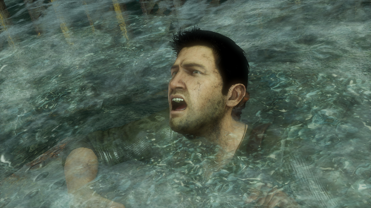 沈没していく船舶内シーンでの見どころは「Rushing Water」