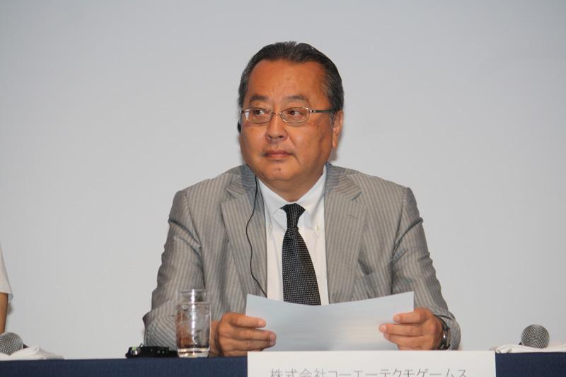 コーエーテクモゲームスのネットワーク事業部長専務取締役 小林伸太郎氏