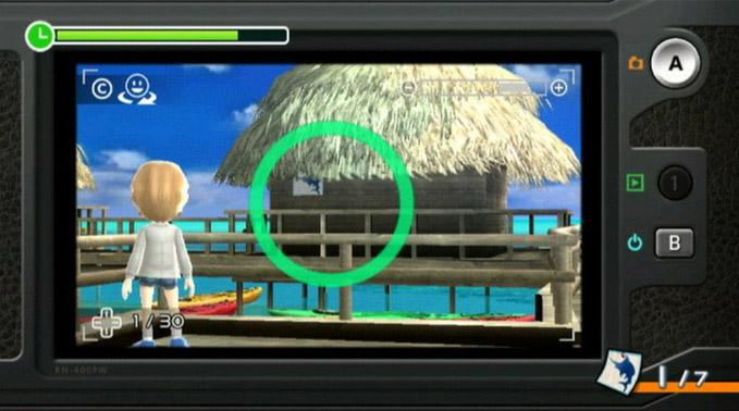 レクリエーション的なミニゲームのアクティビティもたくさんある。画像は、あちこちに隠されたマークを制限時間内に見つけるゲームだ