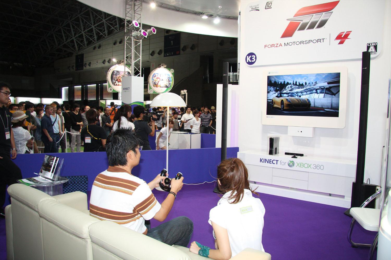 日本マイクロソフトブース「Forza Motorsport 4」コーナー