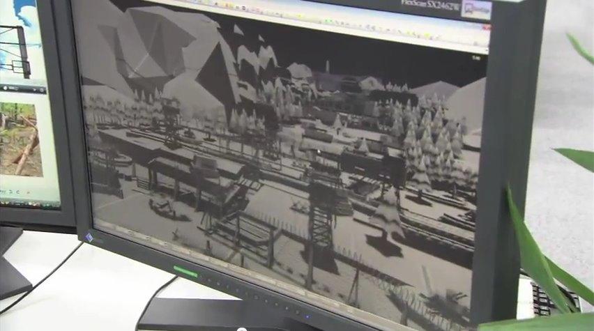 E3 2011トレーラーの中で紹介されている開発中の要塞。かなり複雑な構造をしている