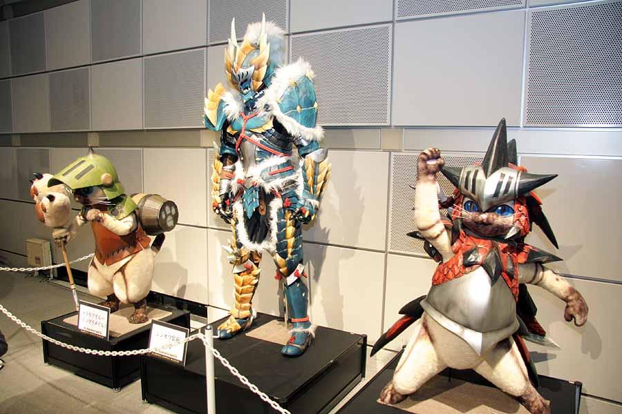 多くの来場者が写真を撮っていたモンハンミュージアム