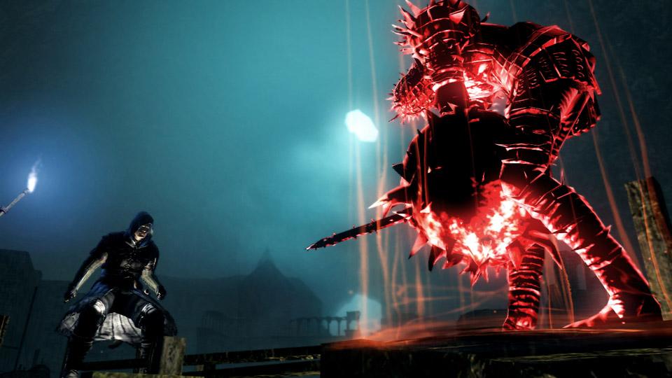 生者のプレーヤーの世界へ侵入してきた赤黒い闇霊。プレーヤーの命を、人間性を奪おうとやってきた侵入者だ