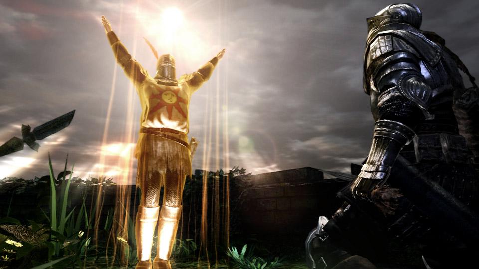 「太陽の戦士」の誓約の象徴とも言えるソラール。彼を召喚すると画像のような独特なポーズを見せる。誓約を結べばプレーヤーもこのポーズが可能だ