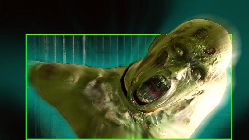 3D映像のイメージスクリーンショット。恐怖をより感じたいなら3Dメガネを装着し、3D映像でプレイしてもらいたい