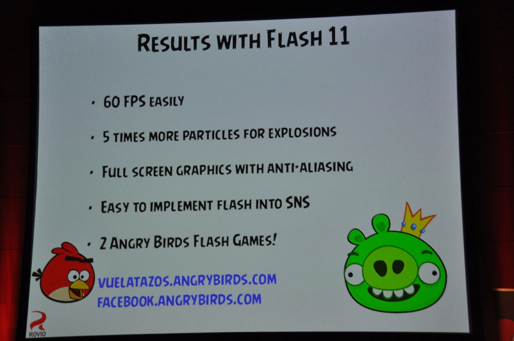 「Adobe Flash Player 11」で実現できたFacebook版。目標となっている動作が可能に