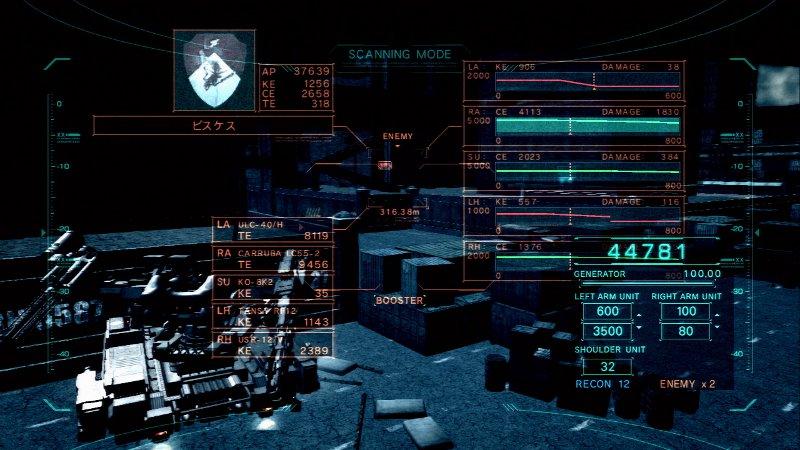 見つけた敵をスキャンし、装備や弱点などを知ることもできる。どんな相手の弱点を突けるような汎用的な装備のときはまずはスキャンから始めよう
