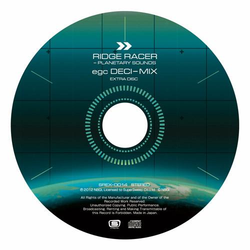 """ラウンジではPS Vita「リッジレーサー」のOSTとなる「RIDGE RACER - PLANETARY SOUNDS」を先行発売! 少数生産の初回特典EXTRA DISC「RIDGE RACER - PLANETARY SOUNDS egc DECI-MIX」ももらえた。こちらは<a href=""""http://sweeprecord.com/?p=4858"""">SweepRecordのオンラインショップ</a>でも予約受付中なので、ぜひチェックして頂きたい"""