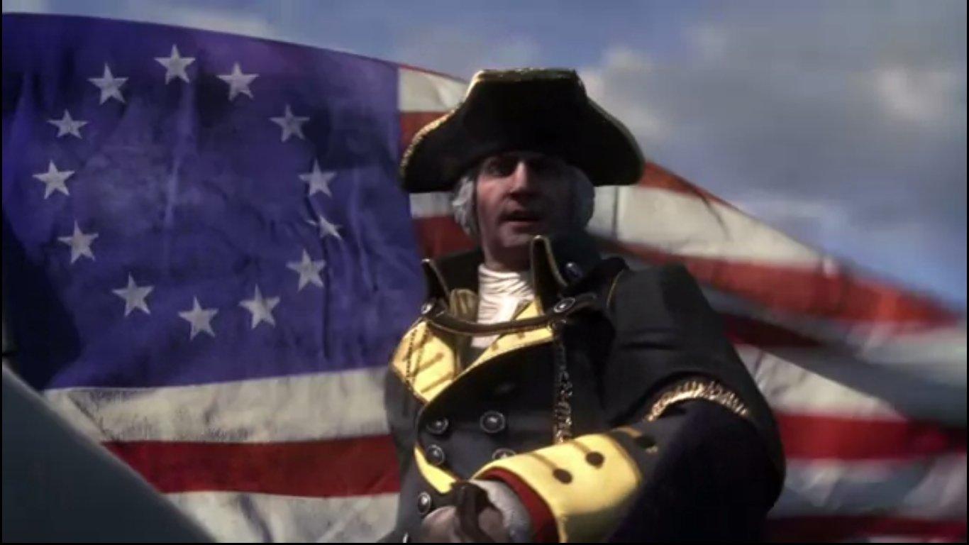 アメリカ初代大統領ジョージ・ワシントンも登場