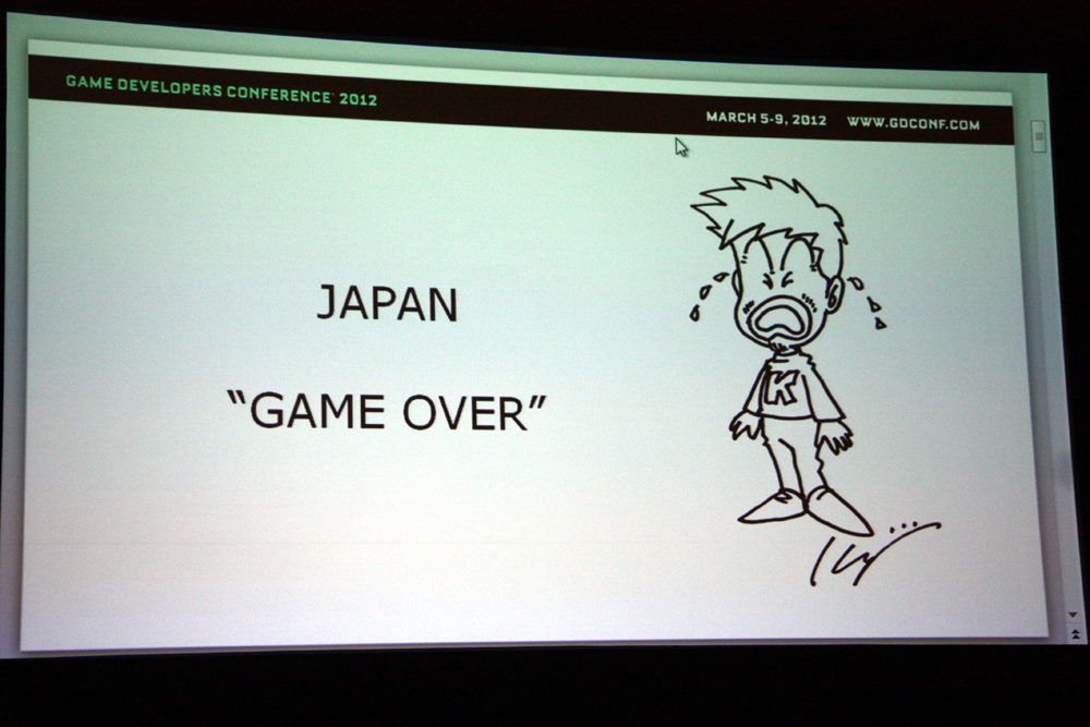 "「JAPAN ""GAME OVER""」という刺激的なスライドからスタート"