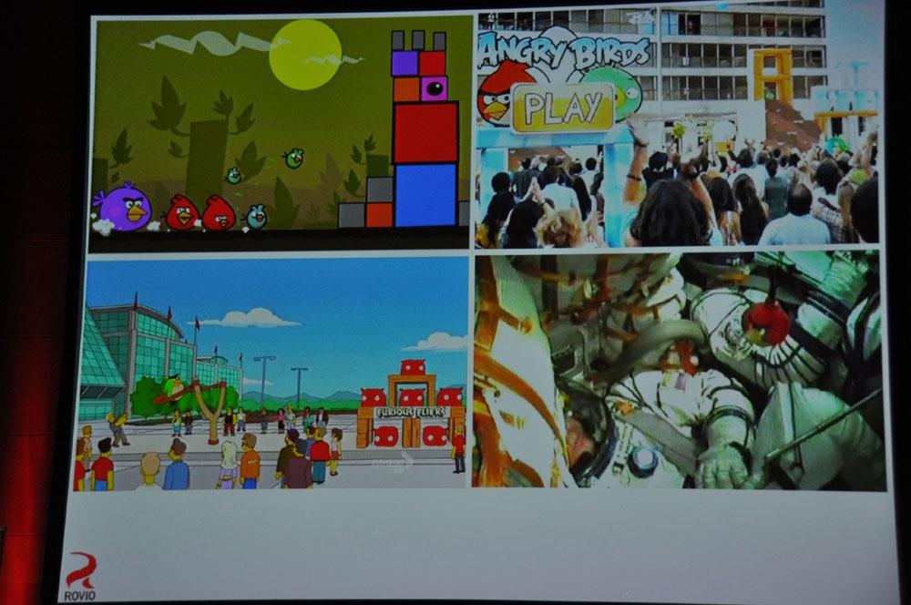 「ADC MEETUP ROUND4」でのスライド。「Angry Birds」はイベントが行なわれたり、宇宙にグッズを持って行ったりと、様々なアピールをしている