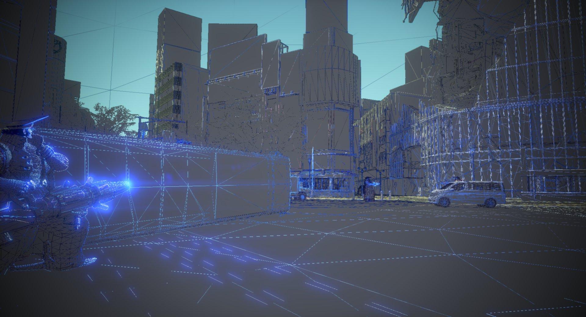 「ガンスリンガーストラトス」の開発中の画面
