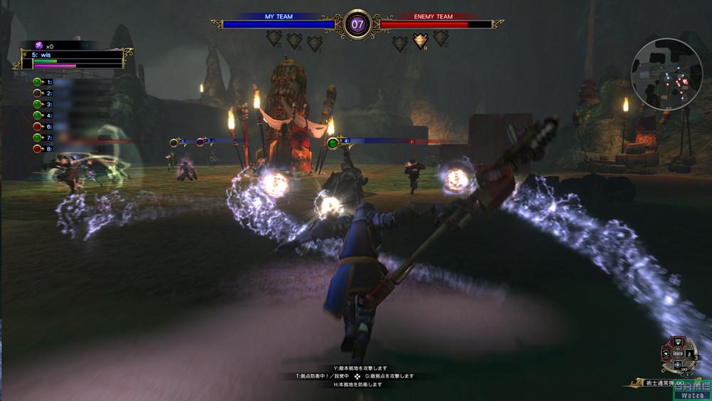 「キャスター」は魔法を操る。HPの回復など支援系のスキルが充実しているものの、単体での戦闘力は低い