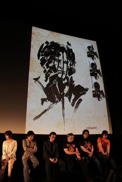 新川氏の手によるイメージイラストが多数公開された。こちらもカフェ オアゼに展示されている