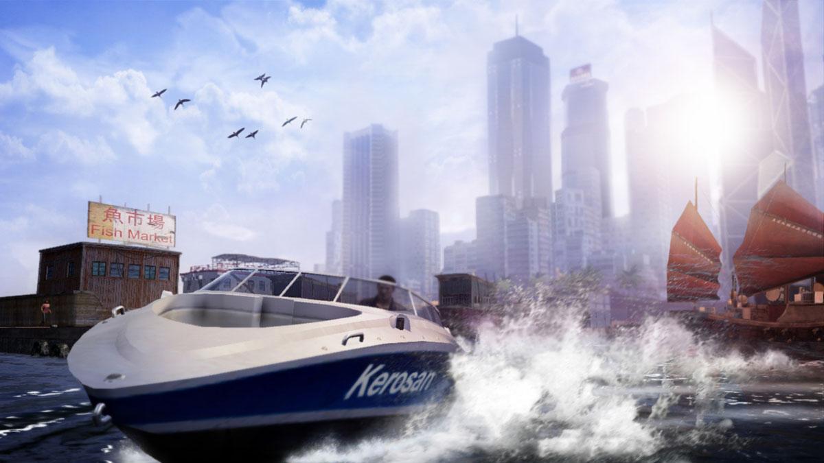 車以外も、バイクやボートなど多彩な乗り物が登場する