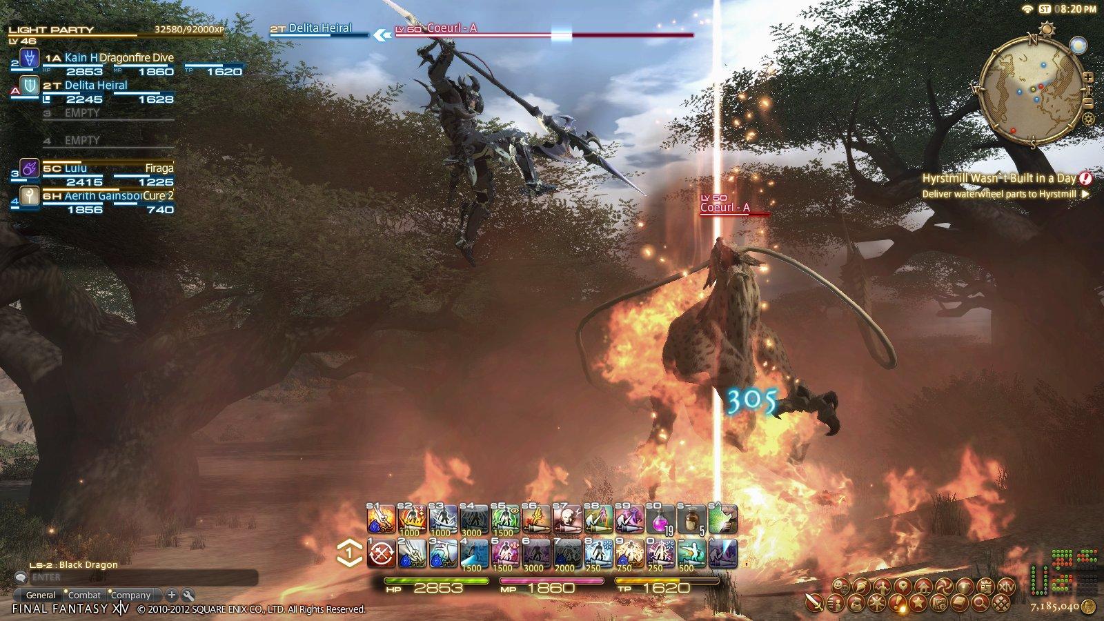 まさに「FF」らしい竜騎士のジャンプ攻撃のシーン。「FFXI」と異なり、滞空シーンを描いているのが大きな特徴となる
