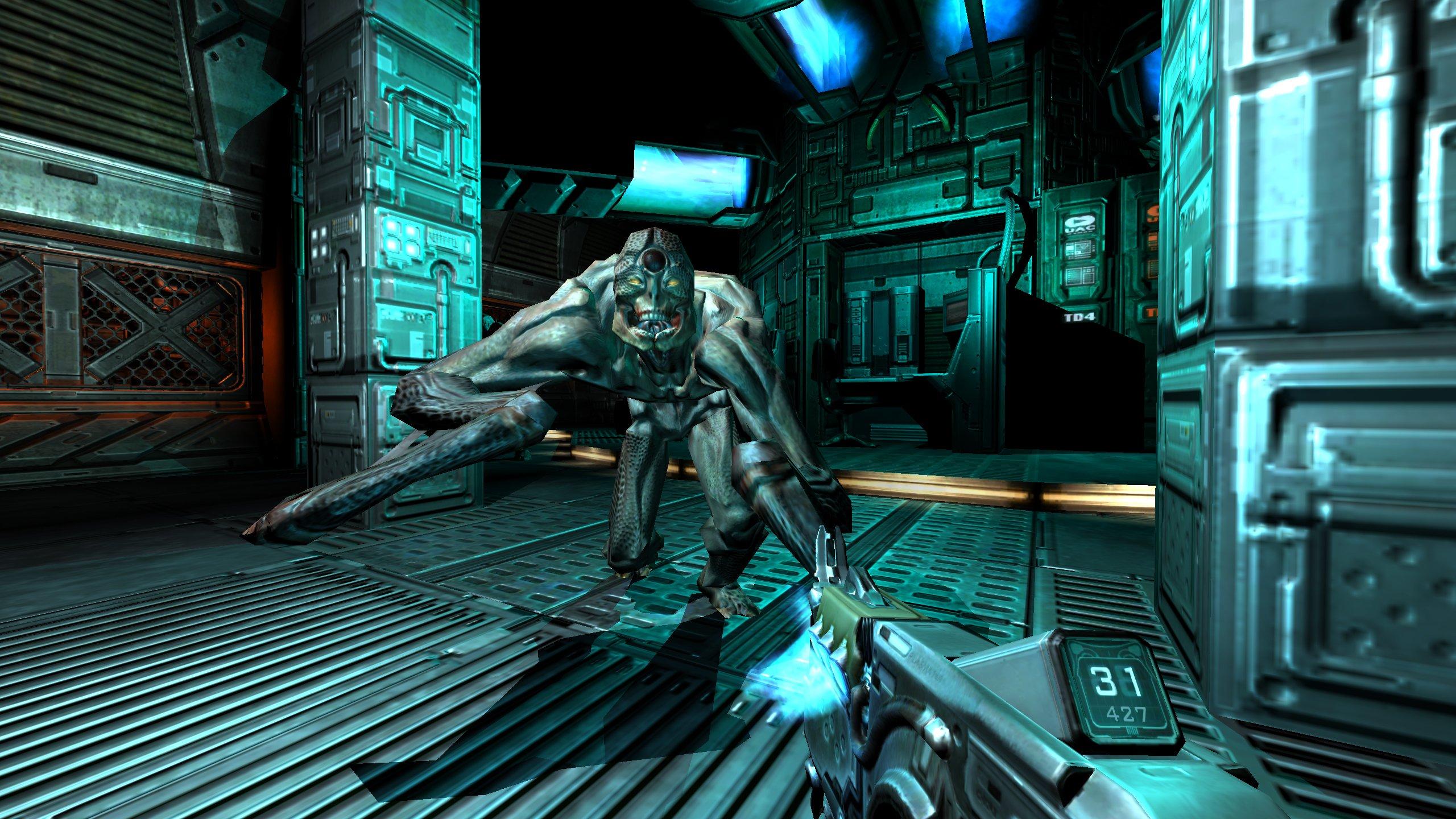 FPS界の伝説的な存在「DOOM 3」が、「DOOM III BFG Edition」(Bethesda Fucking Games:Bethesdaの最高に活かしたゲーム)としてHD&3D立体視リメイクを果たして再登場する。PS3、Xbox 360向けとしては初登場となる。バリュープライスのパッケージとして今秋発売予定。日本展開も予定している。8年ぶりにプレイしたが、リアルタイムの広言処理、陰影処理は、いまだにまったく色あせておらず、当時の先進性を今に伝えてくれる貴重なタイトルとなっている。ゲームパッドでの操作も、「RAGE」の開発経験から、実に良好な感じで違和感なくプレイすることができた