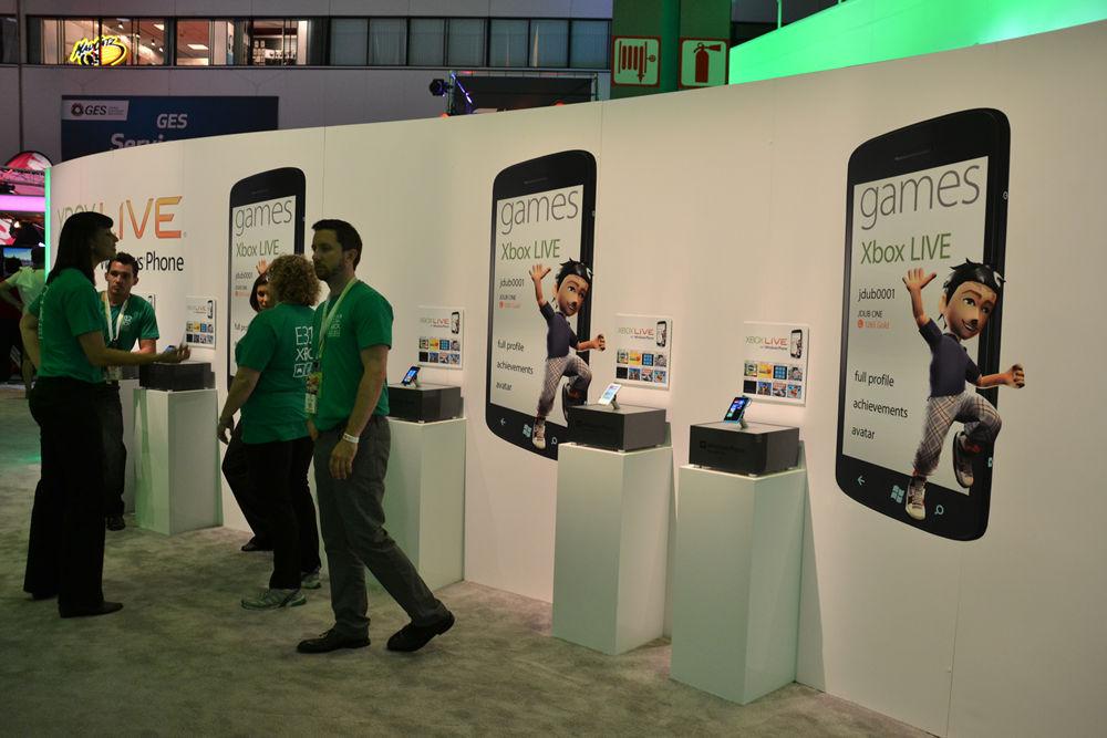 Microsoftブースには、Windows Phoneコーナーが設けられた。ひっそりした雰囲気だが、Windows Phone 8が出ているはずの来年にはもっと端末が並ぶだろうか?