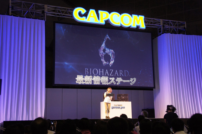 ステージイベントでは、「バイオハザード6」の最新情報やデモプレイが披露された