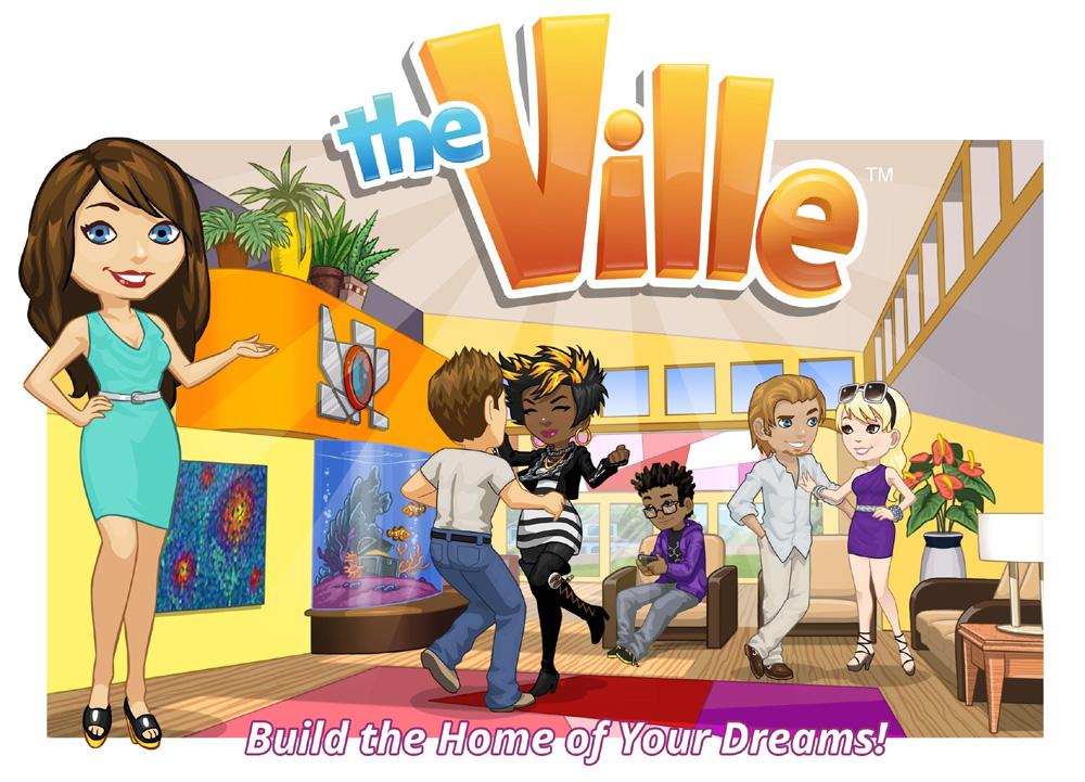先行しているZyngaの「CityVille」。Zyngaの中でもトップランクの人気ゲームだ