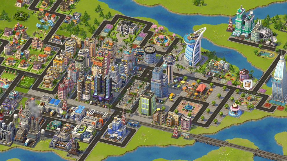 「SimCity Social」は街の景観をよくすることで人口を増やせる