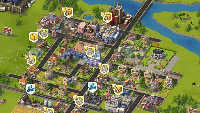 「SimCity Social」はクリックだけで済むが、多少単調になりがち