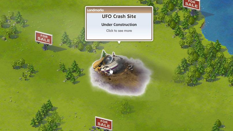 「SimCity Social」ではゲーム序盤にいきなりUFOが墜落してくる。また、メルセデスベンツとのコラボ企画も進行中